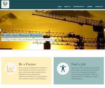 Web Design Project - Global Manpower